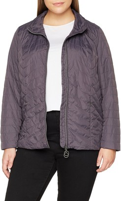 Ulla Popken Women's Quilted Jacket with Stand-Up Collar Jacket
