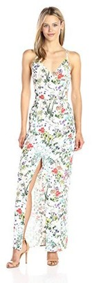 Greylin Women's Cameron Floral Slit Maxi Dress