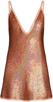 Ashish Sequin-embellished plunging silk mini dress