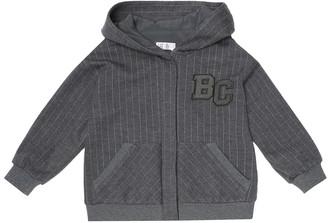 BRUNELLO CUCINELLI KIDS Pinstriped wool-blend track jacket
