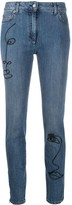 Moschino Cornely embroidery skinny jeans