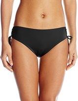 Calvin Klein Women's Side Shirred Hipster Bikini Bottom