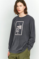 Obey Nobody's Flower Long-sleeve Black Pigment T-shirt