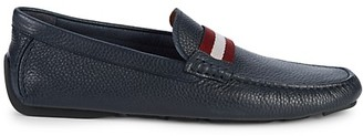 Bally Waltec Pebbled Leather Loafers