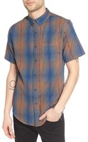 Ezekiel Men's Dobby Plaid Woven Shirt