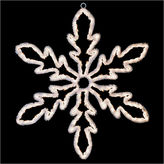 Asstd National Brand 24 Lighted White Hanging Snowflake Christmas Decoration with Clear Lights
