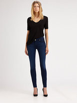 7 For All Mankind The Mid-Rise Skinny Jeans