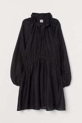 H&M Lyocell-blend Kaftan Dress - Black