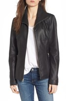 Andrew Marc Women's Fabian Feather Leather Jacket
