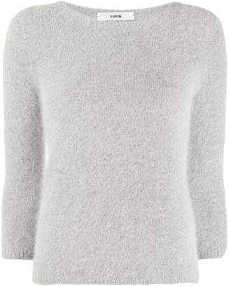 Roberto Collina furry knit sweater