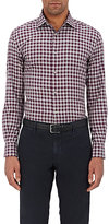 Piattelli MEN'S CHECKED COTTON FLANNEL SHIRT