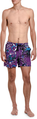 Etro Men's Star-Print Swim Trunks