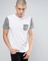 Brave Soul Contrast Dragon Print T-Shirt