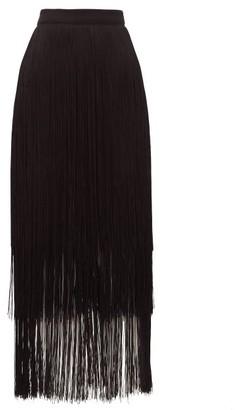 Raey Long-fringe Midi Pencil Skirt - Black