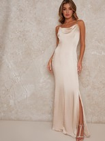 Thumbnail for your product : Chi Chi London Trey Bridesmaid Dress - Champagne