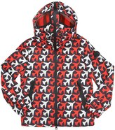 AI Riders On The Storm Printed Nylon Hooded Windbreaker Jacket