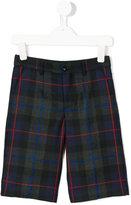Dolce & Gabbana checked shorts - kids - Viscose/Virgin Wool - 2 yrs