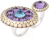John Hardy Women's Batu Dot Amethyst & Swiss Blue Topaz Double Finger Ring