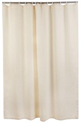 """CSI Bathware 66"""" Wx72"""" L Premium Fabric Shower Curtain, Cream"""