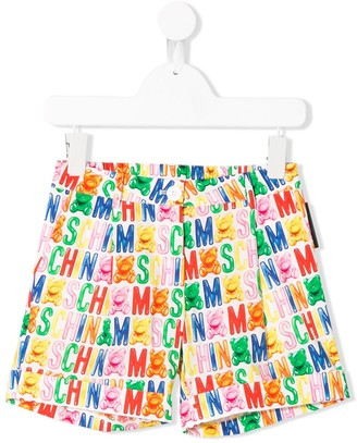 MOSCHINO BAMBINO Gummy Bear Print Shorts