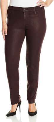 James Jeans Women's Plus-Size Twiggy Z Black Red Glossed