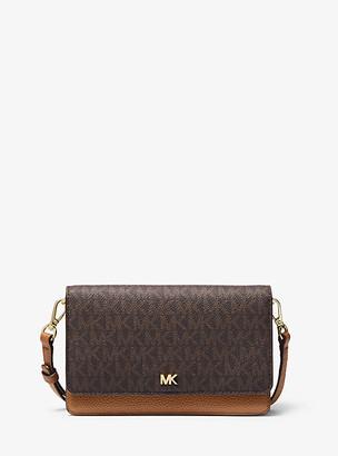 Michael Kors Logo and Leather Convertible Crossbody Bag