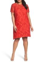 Tahari Plus Size Women's Lace Swing Shift Dress