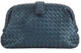 Bottega Veneta Lauren Intrecciato Woven Snakeskin Clutch Bag