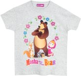Masha and the Bear Girls' Masha and the Bear T-Shirt Size ,age (3-yrs)