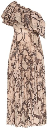 SOLACE London Rosa snakeskin-effect maxi dress