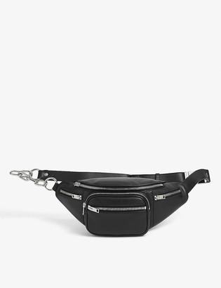 Alexander Wang Chain-embellished zipped leather belt bag