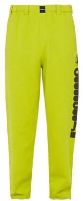 Vetements Logo-print Cotton Track Pants - Mens - Light Green