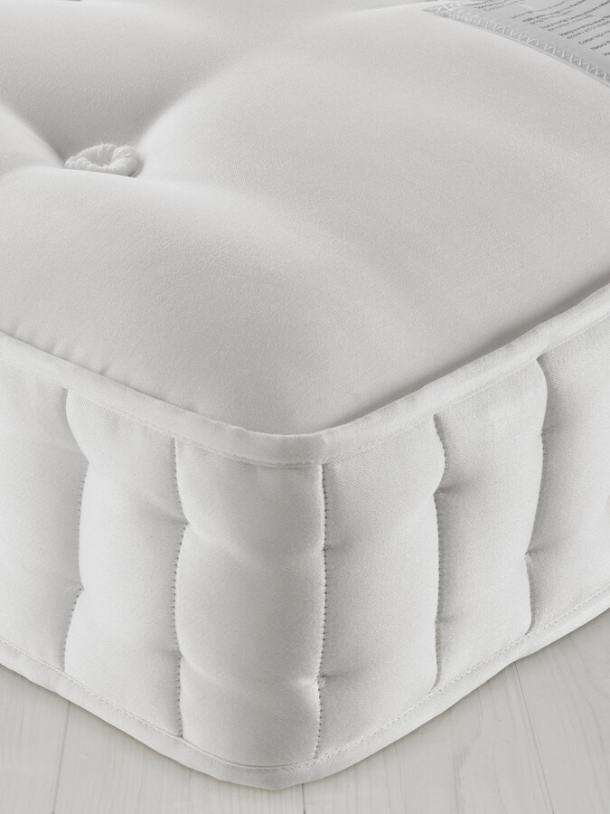 John Lewis & Partners Natural Collection Fleece Wool 8400, Single, Medium Tension Pocket Spring Mattress