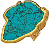 Charlene K Blue Turquoise and Gold Ring