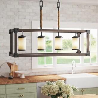 17 Stories Leitha 4-Light Kitchen Island Linear Pendant Bulb Type: Incandescent