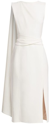 Oscar de la Renta Sleeveless Draped Pencil Dress