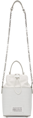 Maison Margiela White Croc 5AC Bucket Bag