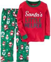 Carter's Boys' 12 Month-8 2-Piece Christmas Cotton and Fleece Pajamas