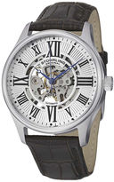 Stuhrling Original Original Mens Brown Leather Strap Skeletonized Watch-8134