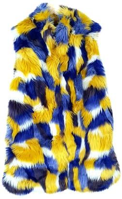 Gaelle Bonheur Multicolour Faux fur Jacket for Women
