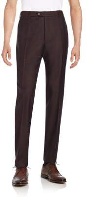 Armani Collezioni Virgin Wool Flannel Trousers