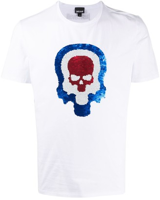 Just Cavalli sequined skull T-shirt