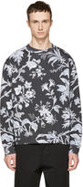 McQ by Alexander McQueen Grey Oversized Floral Sweatshirt