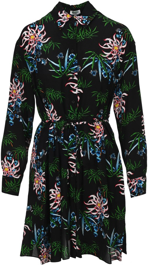 Kenzo Sea Lily Shirt Dress