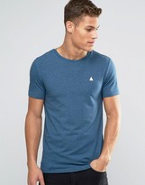 Asos Muscle T-shirt With Logo In Blue Marl