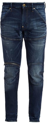 G Star Zip Knee Distressed Skinny Jeans