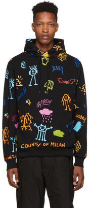 Marcelo Burlon County of Milan Black Sketches Hoodie