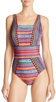 Gottex Nefertiti Square Neck One Piece Swimsuit