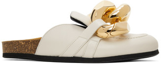 J.W.Anderson Off-White Nappa Curb Chain Slippers