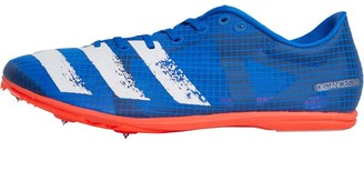 adidas Mens Distancestar Long Distance Running Spikes Glow Bloe/Core White/Solid Red